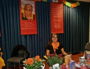 Christina beim Dalai Lama