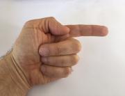 Zeigefinger und Drei Finger